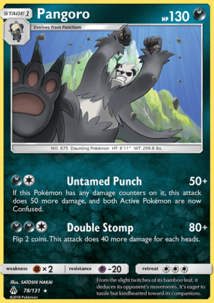 Pangoro from Forbidden Light