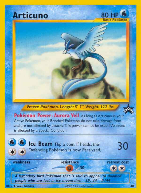 Pokémon Articuno Black Star Promo #48 NEW Mint Fast Free Ship