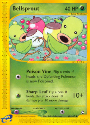 Bellsprout from Aquapolis