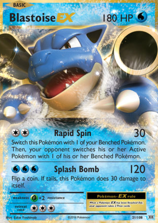 Blastoise-EX from Evolutions