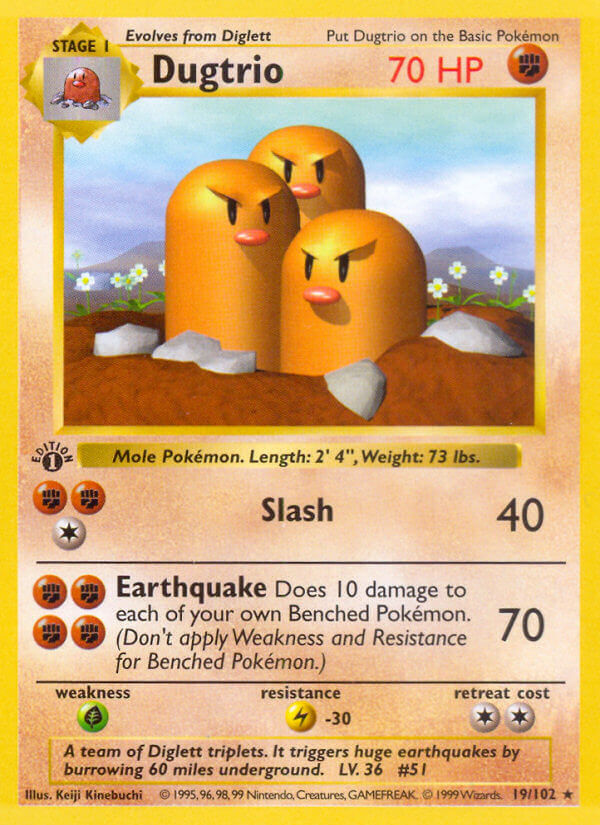 Dugtrio from Base Set