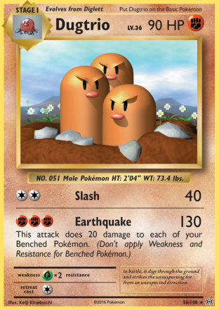 Dugtrio from Evolutions