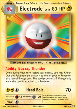 Electrode from Evolutions