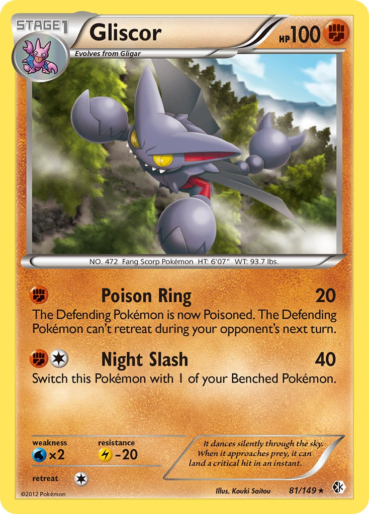 Pokemon Card STAGE 1 68//145 GLISCOR