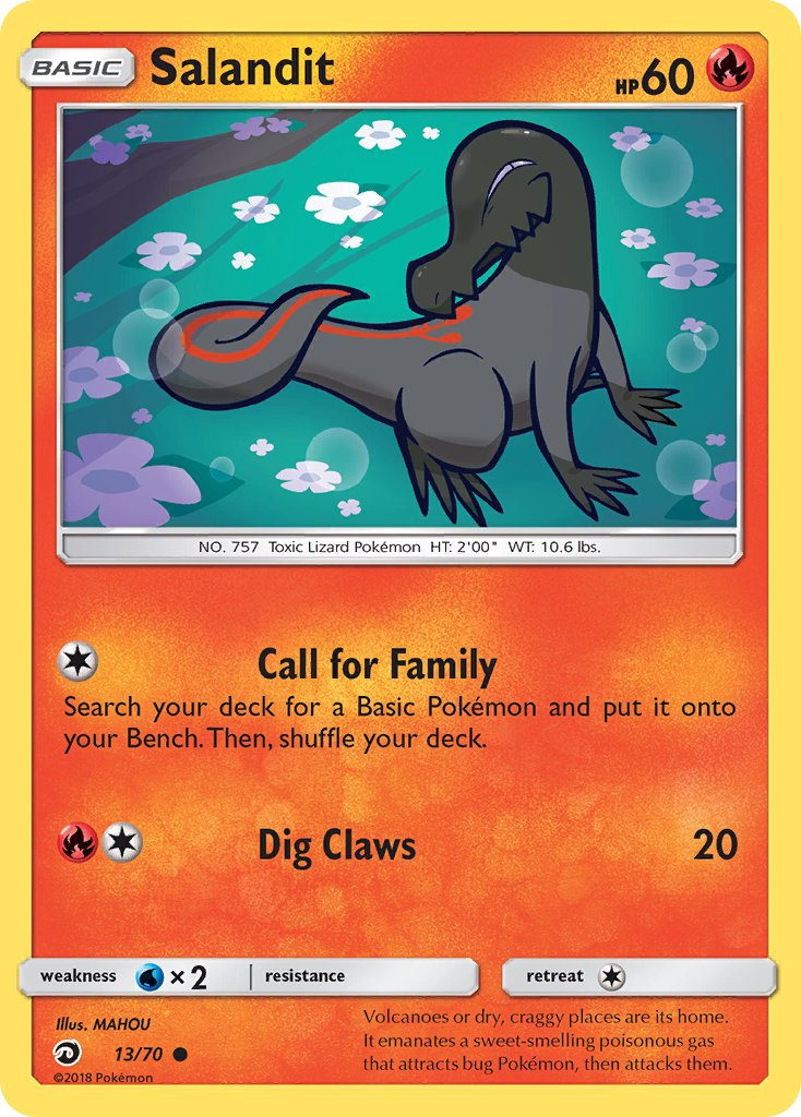 Common 4 x Salandit Dragon Majesty 13//70