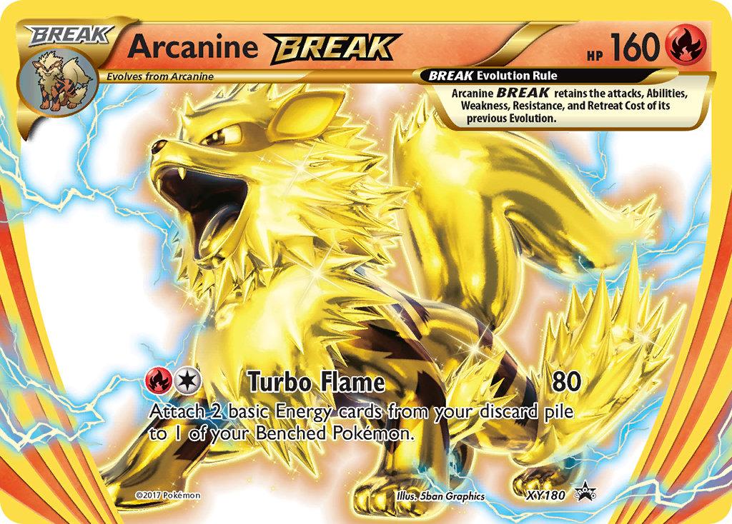 ARCANIN TURBO PROMO POKEMON HOLO N° XY180 ARCANINE BREAK 160 HP