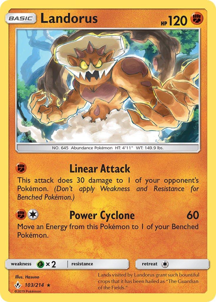 1X Pokemon Furious Fists Landorus 58//111 Rare Holo Card