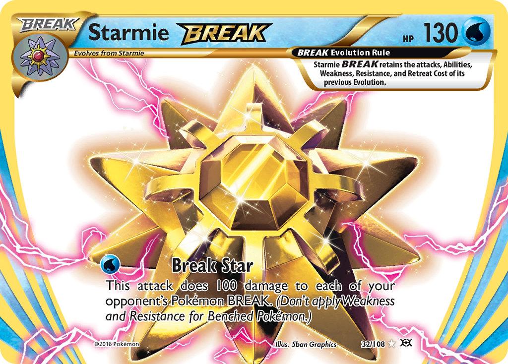 HOLO N°  32//108 STARMIE BREAK 130 HP POKEMON XY12 Evolutions