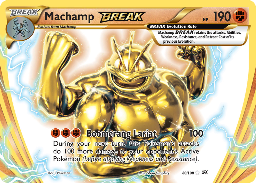 Nidoking Machamp /& Starmie BREAK Ninetales XY Evolutions Complete BREAK Set