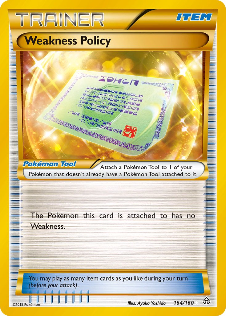 Weakness Policy Pkmncards Even without weakness policy activating the combination of dd and roost allows it to get to those ah yeah, weakness policy dragonite was one of the more popular pokemon when the metagame first. weakness policy pkmncards
