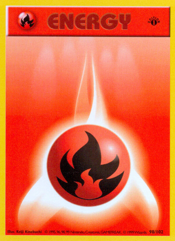 Fire Energy from Base Set