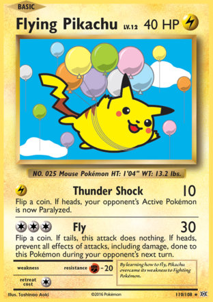 Flying Pikachu from Evolutions