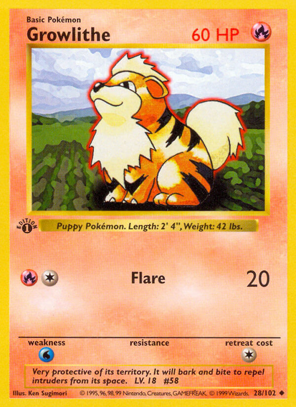 Growlithe from Base Set
