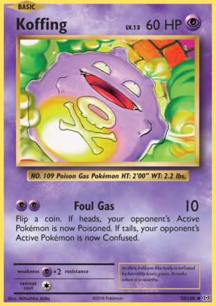 Koffing from Evolutions