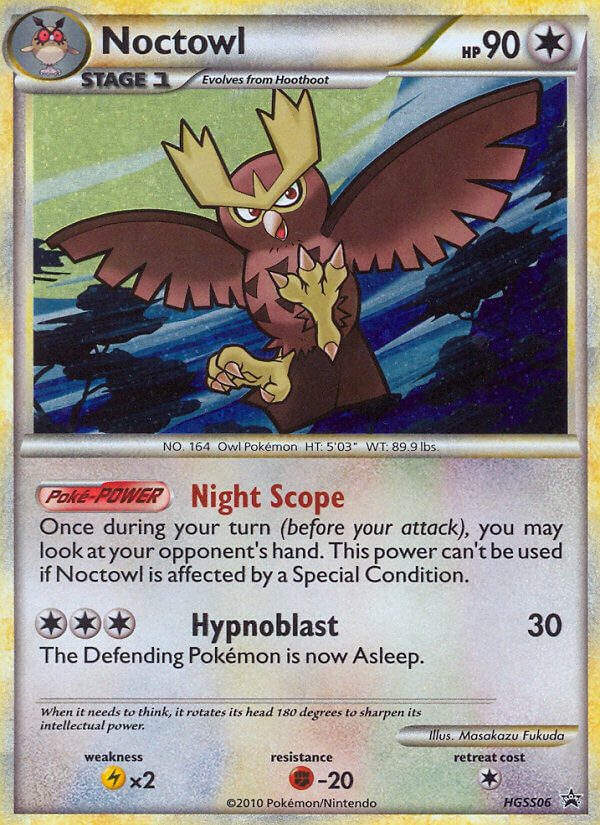 Noctowl from HeartGold & SoulSilver Promos