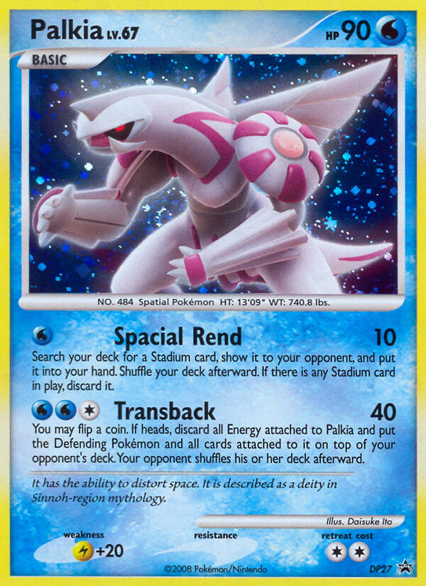 Palkia Pokemon Card