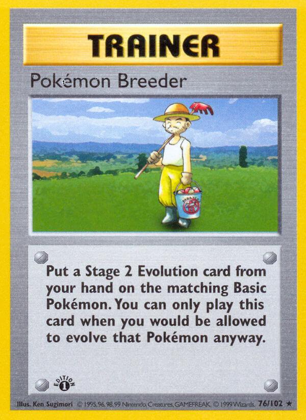 Pokémon Breeder from Base Set