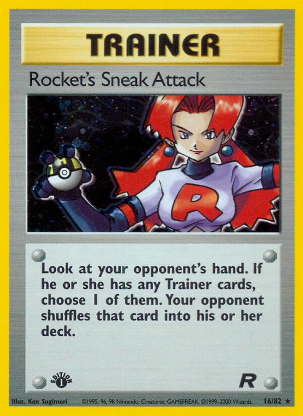 rocket's sneak attack team rocket tr 16