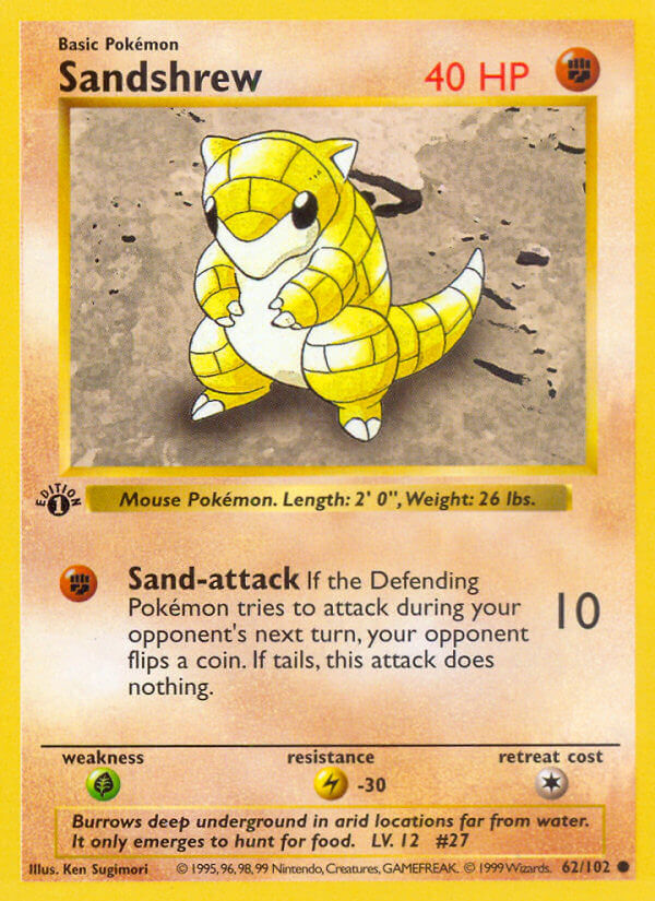 Sandshrew from Base Set