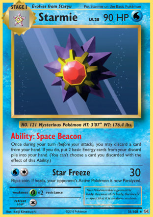 Starmie from Evolutions