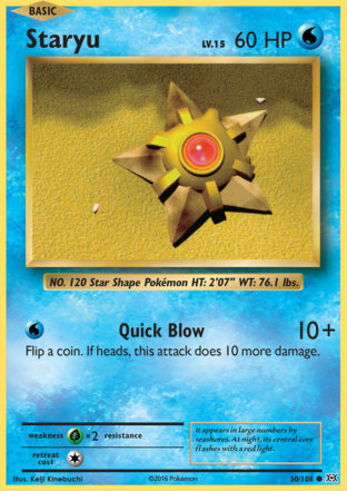 Staryu from Evolutions