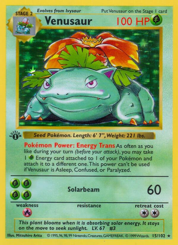 Pokémon TCG Headquarters: Top 10: Best Pokemon Cards from Base Set